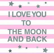 I Love you To the moon-Pink-01-01